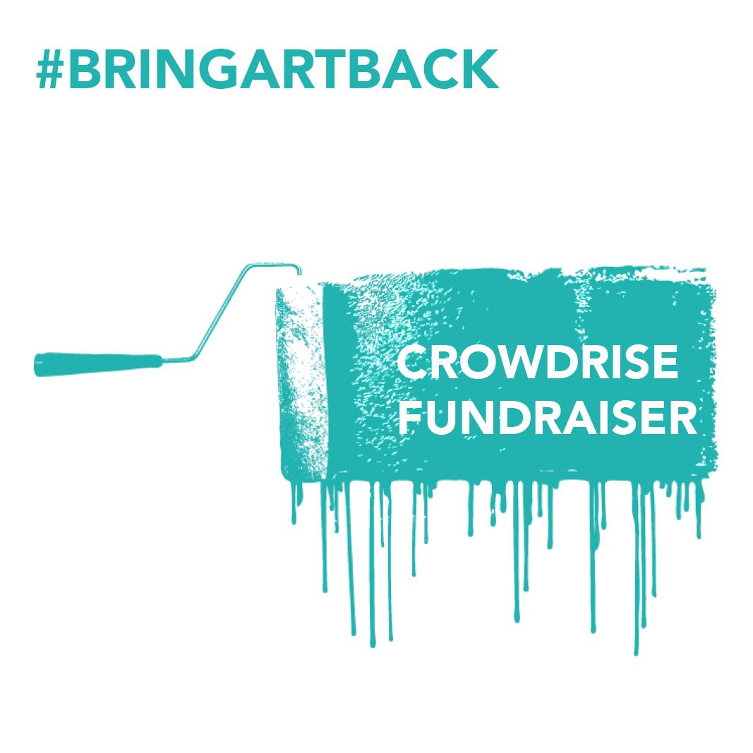 crowdrise fundraiser button on website