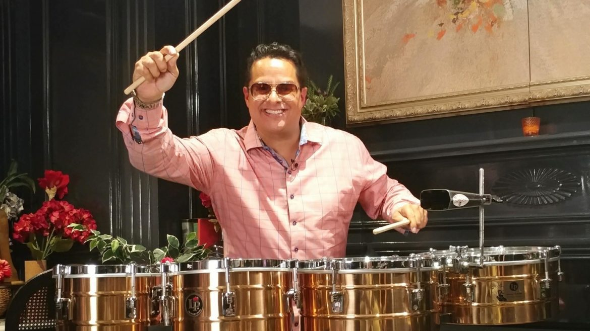 Tito Puente jr drumming