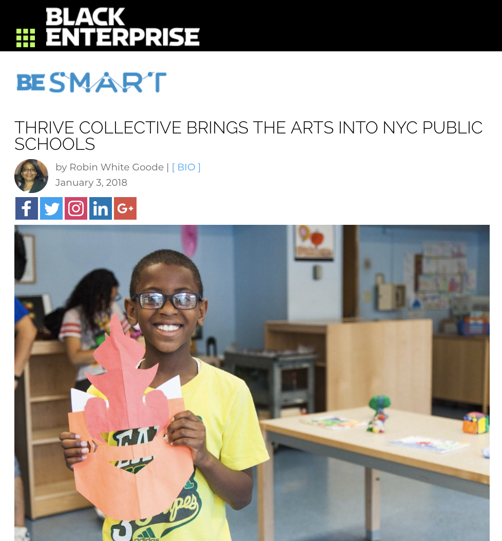 Thrive brings art into public schools