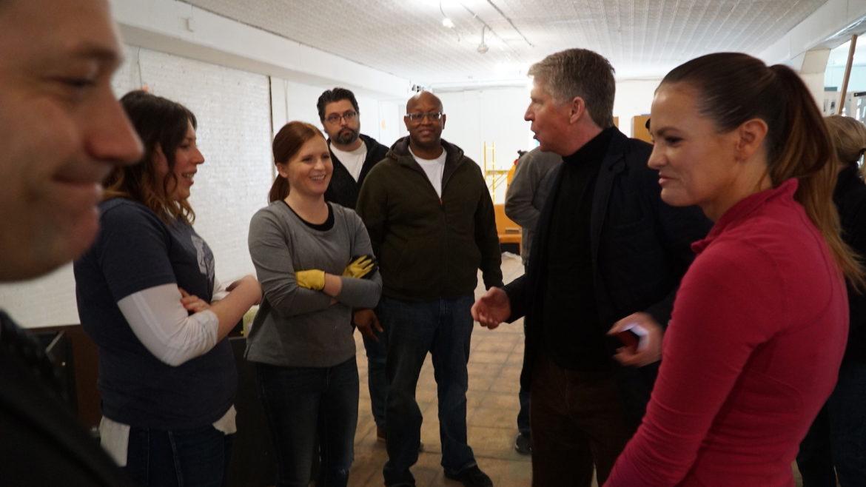 Vance volunteers working with Thrive