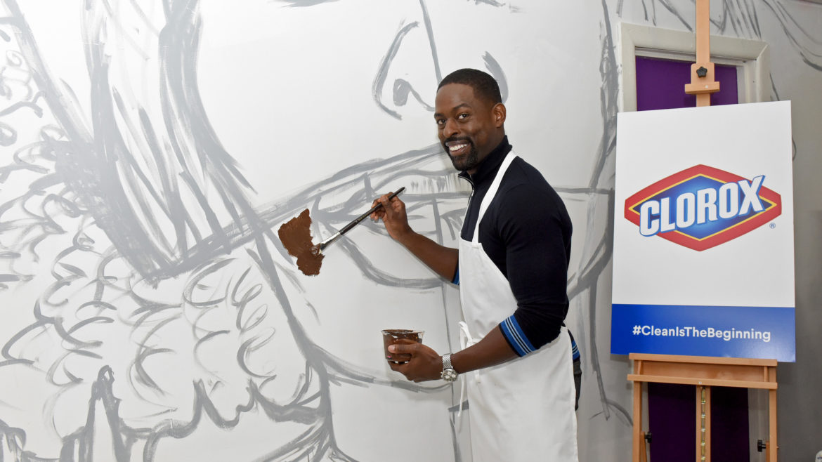 Sterling Brown painting at the hub