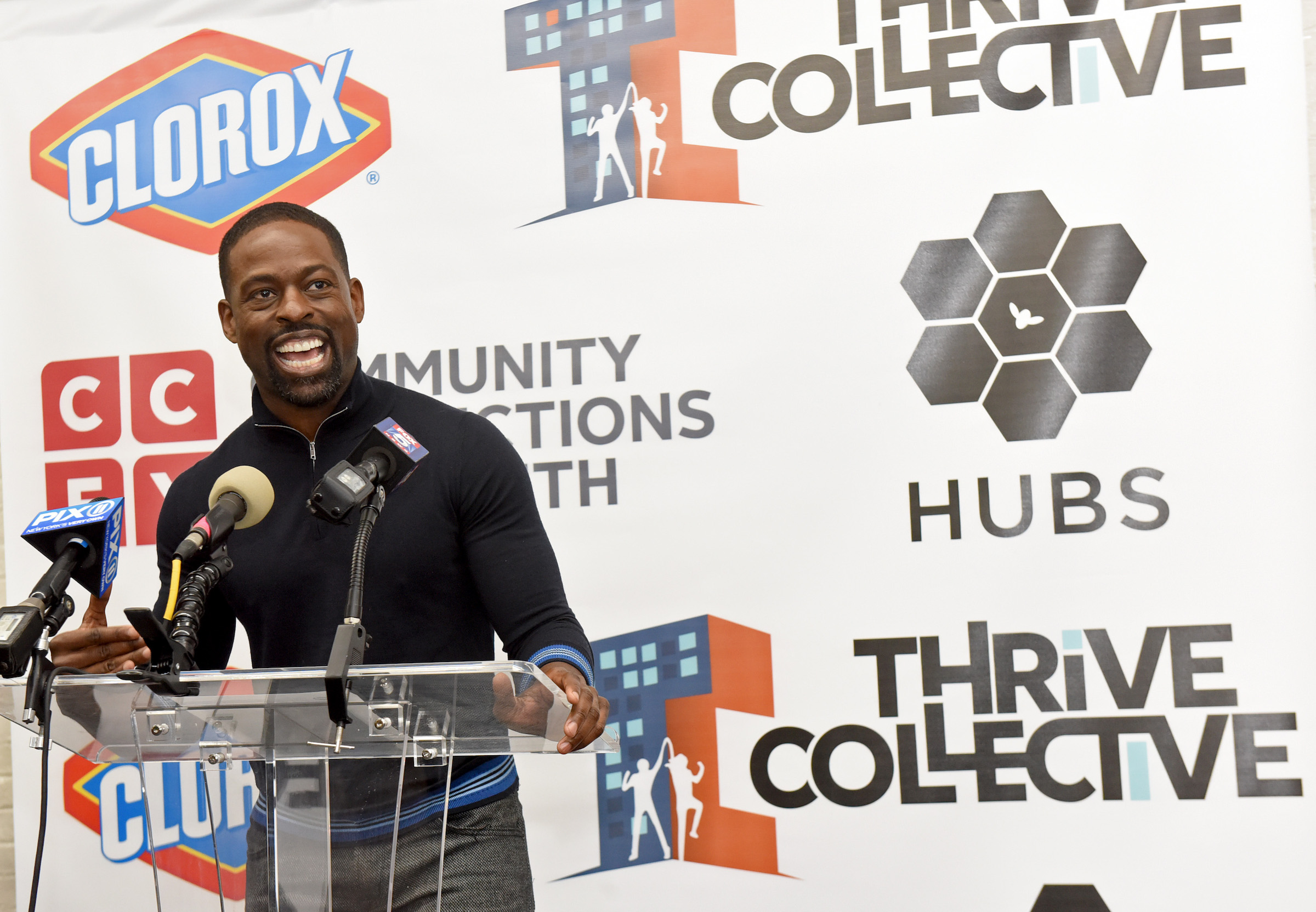 Sterling K. Brown at the hub