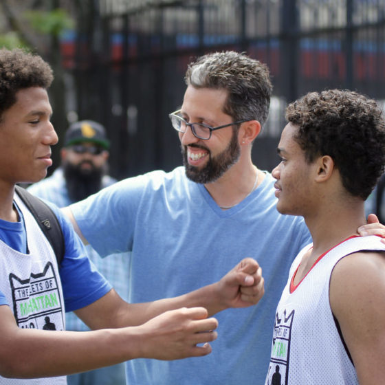 jon del rio coaching at thrive sports basketball tournament