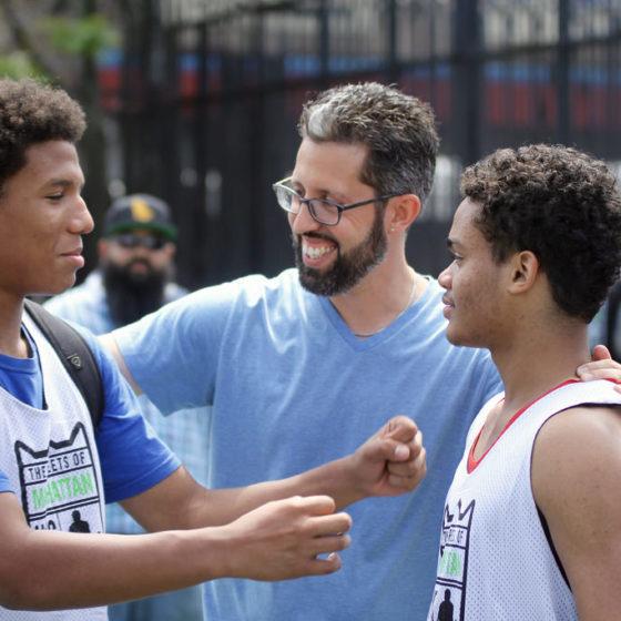 jon del rio coaching at thrive sports basketball tournament