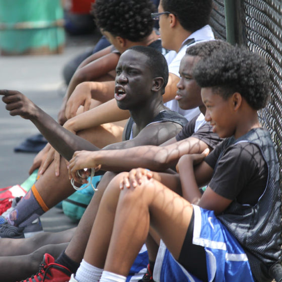 fans at thrive sports basketball tournament