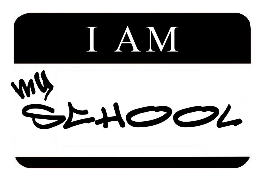 i am my school logo