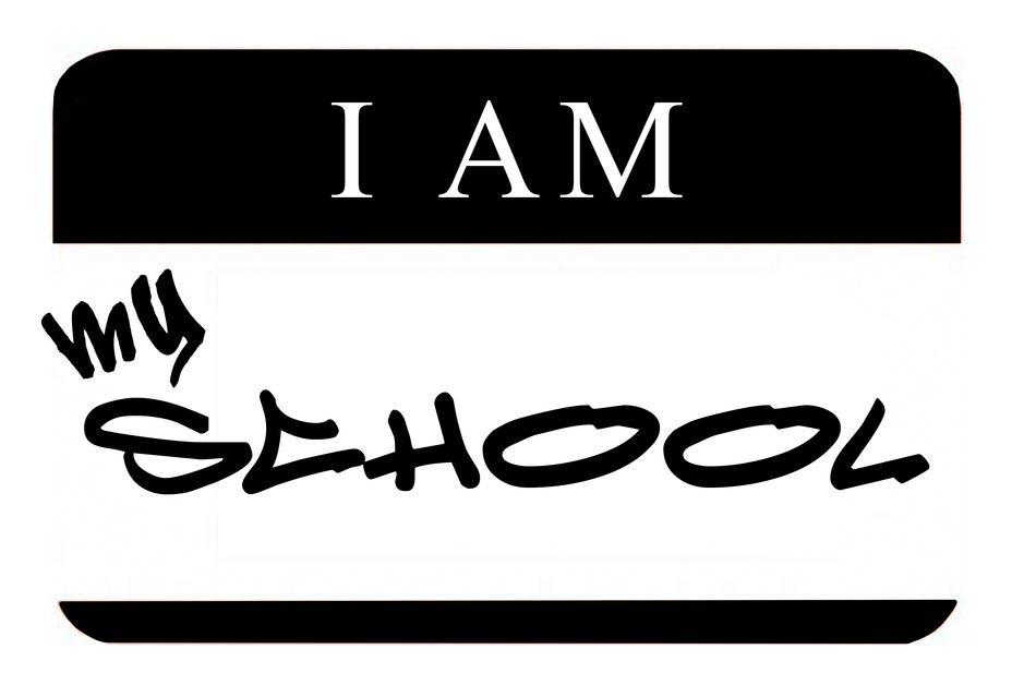i am my school logo
