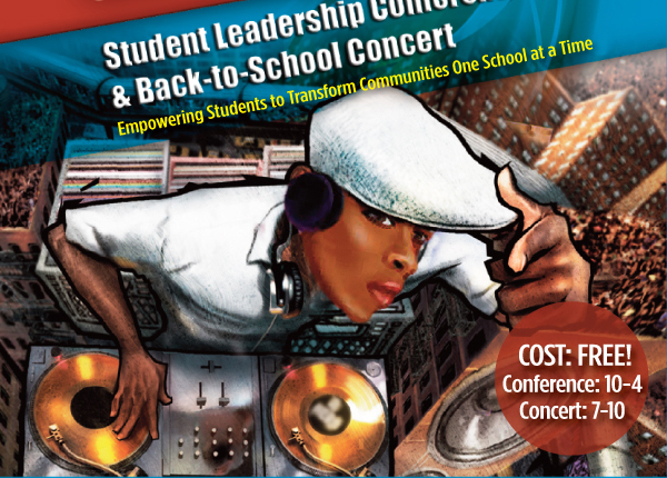 student leadership conference and back-to-school concert poster