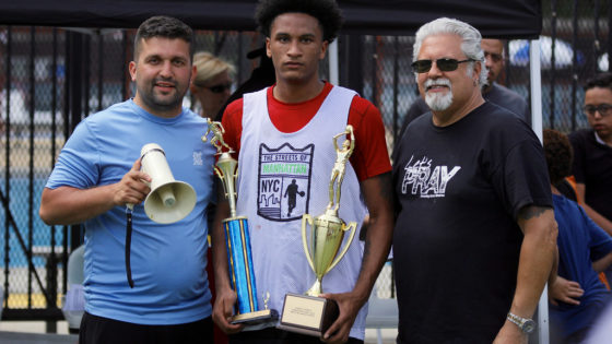 rick del rio with thrive sports basketball tournament winner