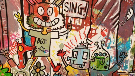 carnegie hall sing painting