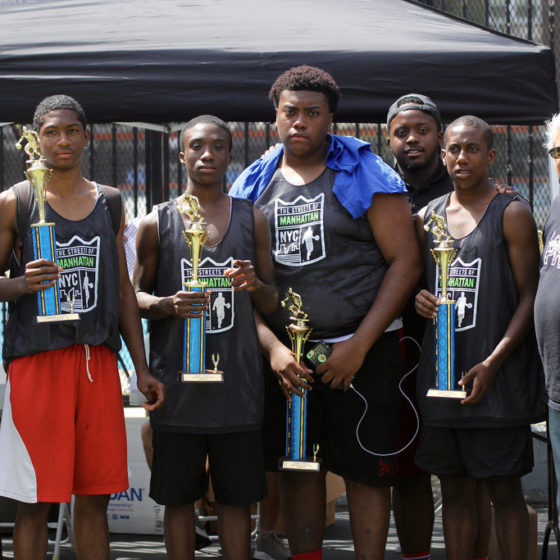 thrive sports basketball tournament winners