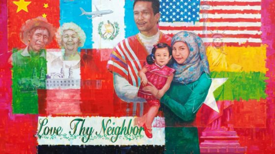 immigration mural