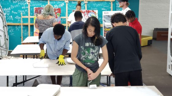 teens getting painting ready