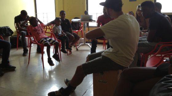 Randy teaching kids