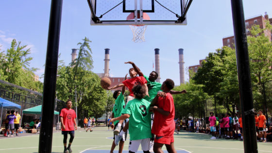 layup at basketball tournament