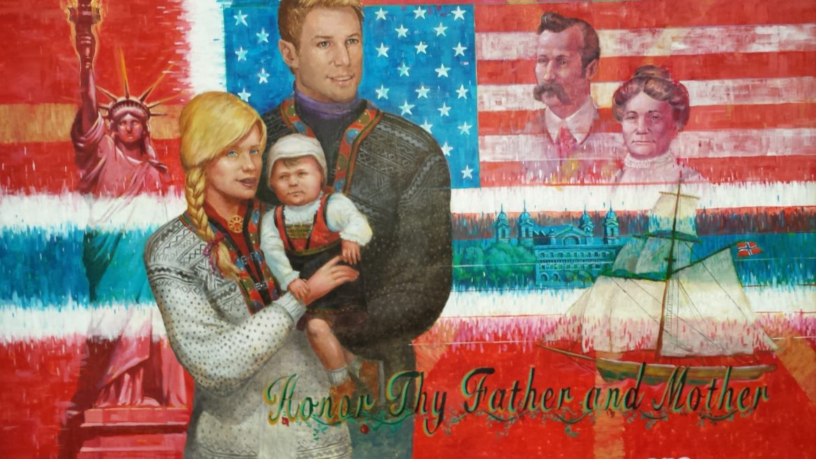 """Honor Thy Father and Mother"" School Mural"