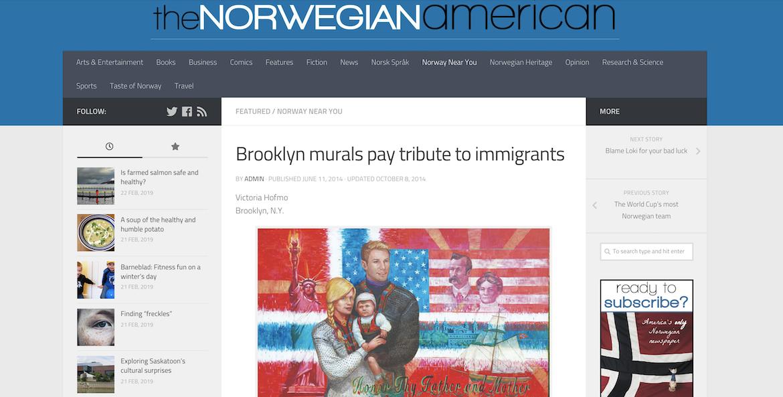 The Norwegian American showcasing Thrive's art