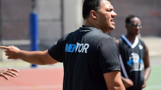 Coach Damian mentoring