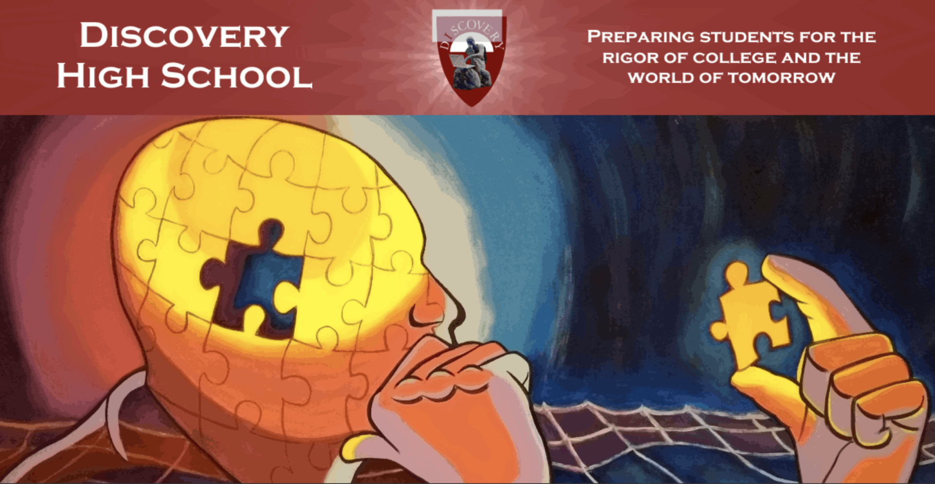 Discovery High School puzzle pieces