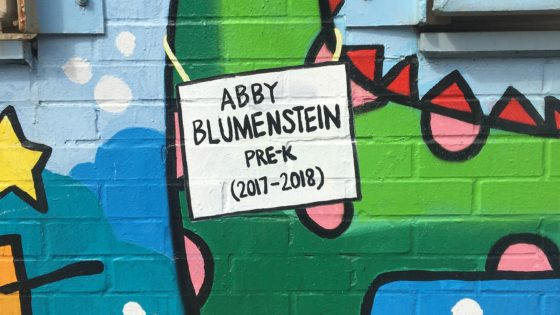 Abby Blumenstein Pre-K on mural