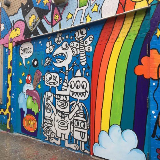 imaginative mural drawings