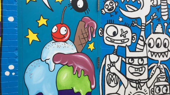 """Sweet"" ice cream mural"