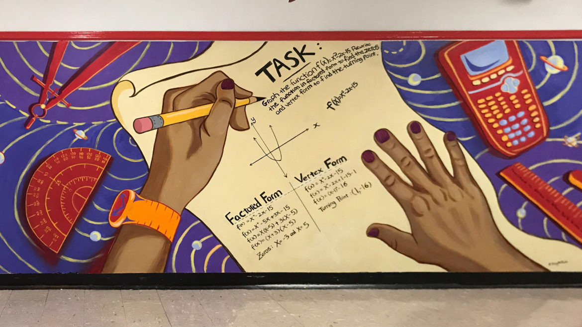 """Discovery High School """"cognition"""" mural"""