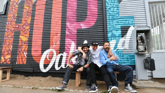Thrive Collective artists and mentors in Oakland