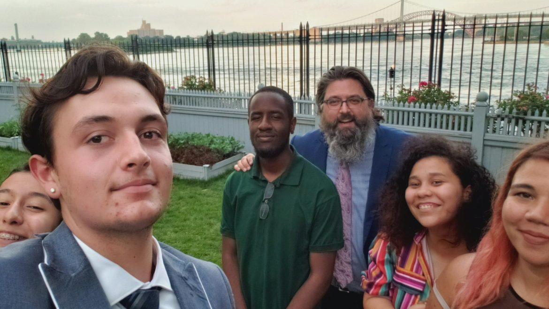 Judah Del Rio selfie with interns