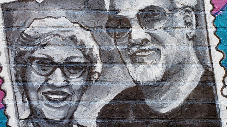 Arlene and Rick Del Rio mural portrait