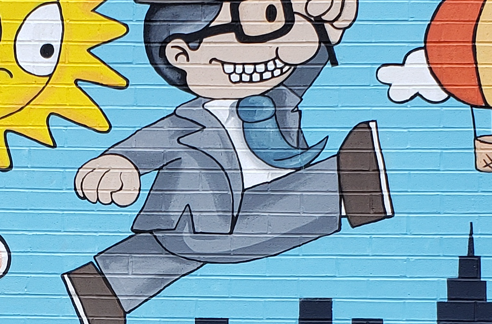 P.S. 204 businessman on mural