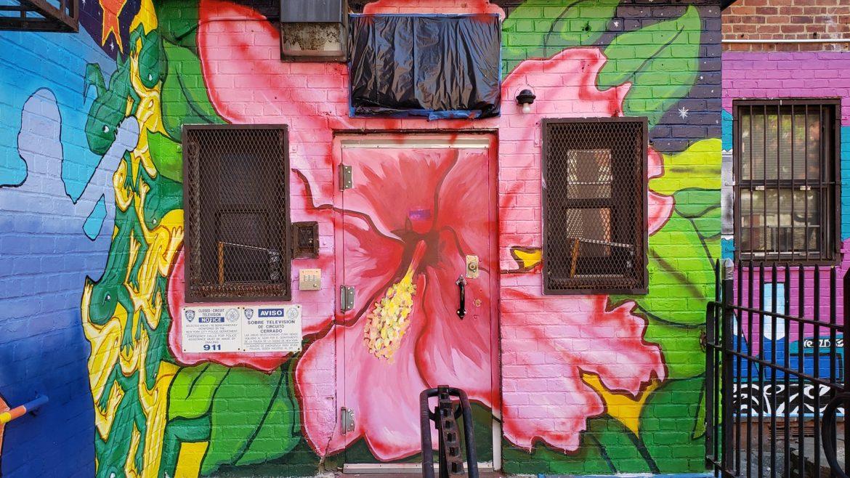 unfinished Lillian Wald Senior Center entrance