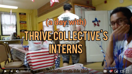 thrive collective intern vlog