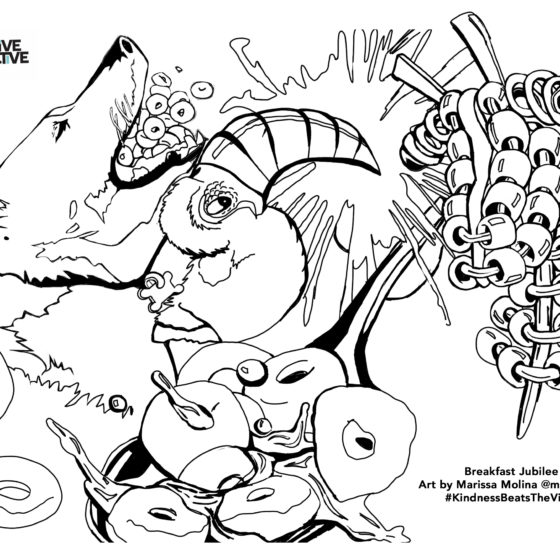 """Breakfast Jubilee"" Coloring Sheet"