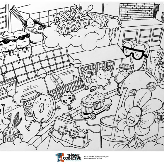 """Essex Market"" Coloring Sheet"